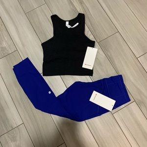 Lululemon Fast and Free Tight & Crop Tank